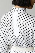 DIRECTOIRE ツイルドットシャツワンピース