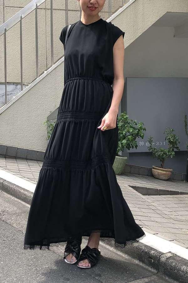 [WEB限定]Unaca 2WAYティアードワンピースドレス