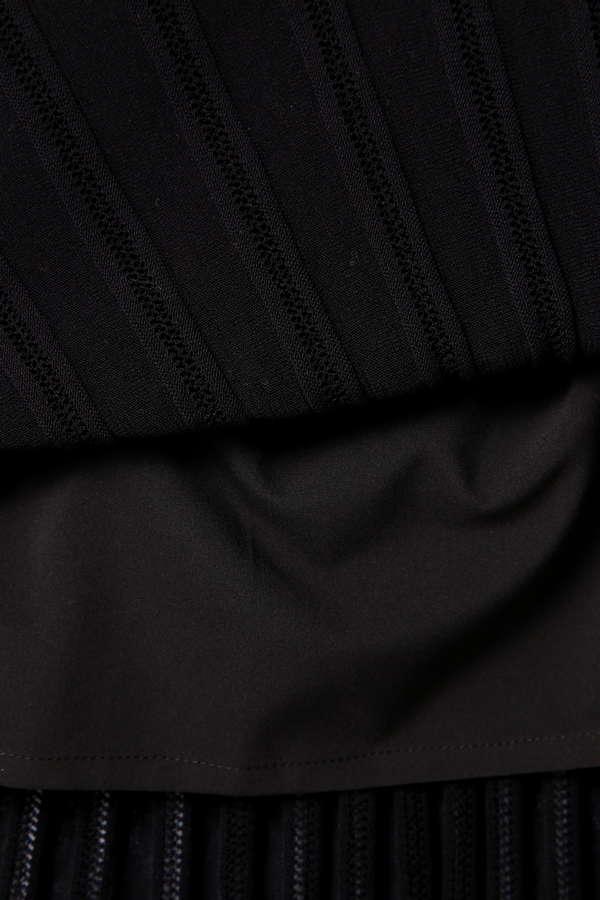 [web限定カラーブラウン]【MORE 5月号掲載】Unaca 柄編みニットワンピース