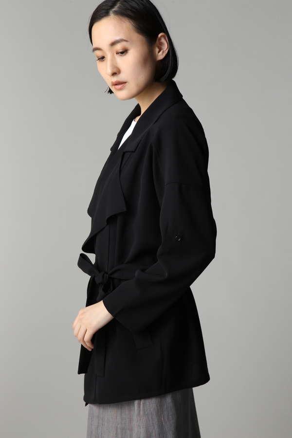 Unaca noir ドレープジャケット
