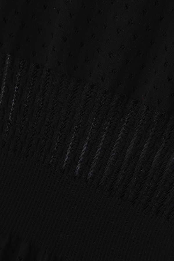 [web別注カラーブラウン]Unaca 柄編みニットプルオーバー