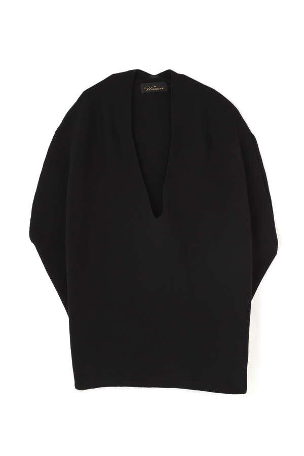 Unaca noir ホールガーメントノースリーブニット