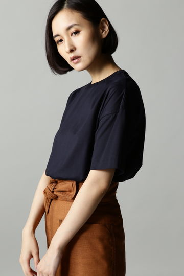 【着回しコーデ】Unaca noir コットン天竺Tシャツ