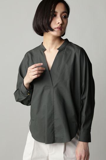 Unaca noir スラッシュオーバーシャツ