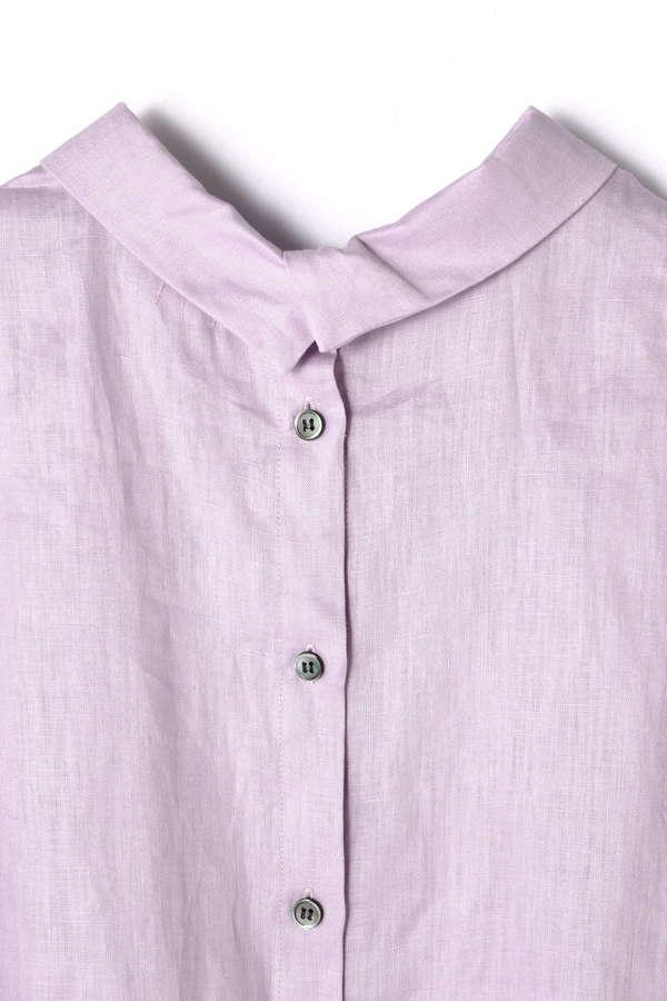Unaca リネンギャザーシャツ