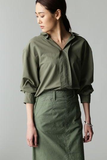 Luxluft ナイロンタッサーシャツ