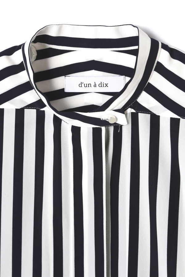 d'un a dix デシン比翼シャツ
