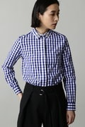 DIRECTOIRE 襟ビジューギンガムシャツ
