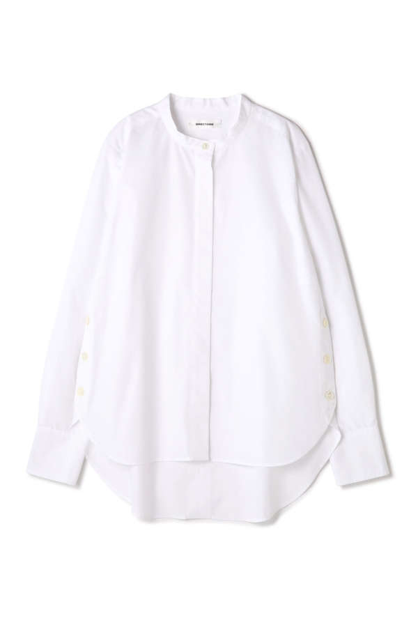 【MORE 4月号掲載】DIRECTOIRE ワイドピンストライプクルーシャツ