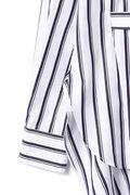 [web限定ホワイトストライプ]【MORE 5月号掲載】DIRECTOIRE ワイドピンストライプバックロングシャツ