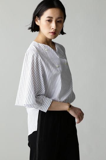 【着回しコーデ】[web限定]Luxluft ケープスリーブシャツ