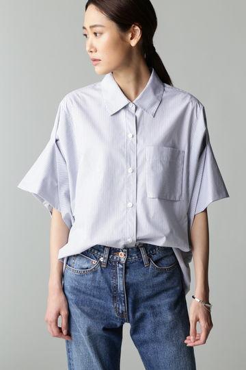 DIRECTOIRE ターンバックスリーブストライプシャツ