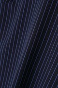 Unaca noir ストライプノースリブラウス