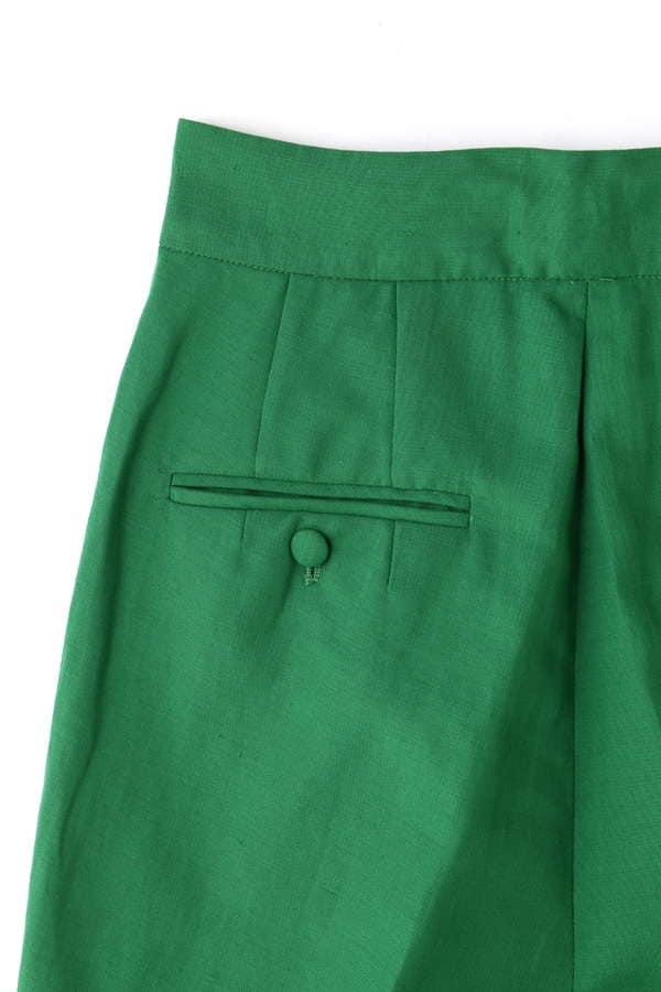 【STORY 4月号掲載】Unaca noir リネン混タフタパンツ