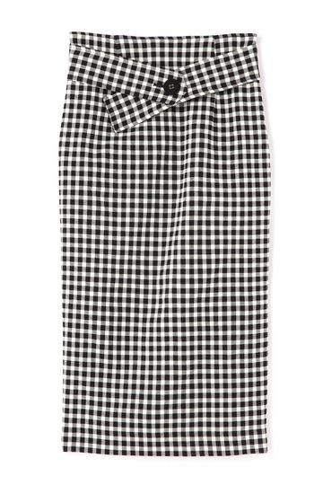 【先行予約 3月下旬 入荷予定】dunadix チェックベルトスカート