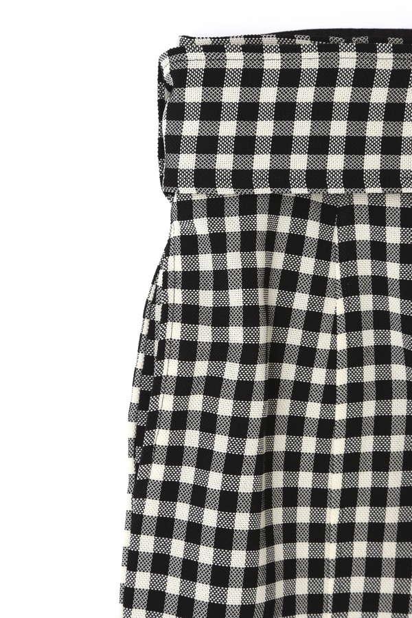 dunadix チェックベルトスカート