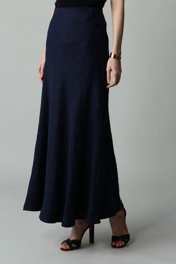 【スタイリング特集】dunadix リネンバイヤスロングスカート