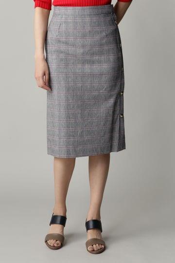 dunadix サイドボタンストレートスカート
