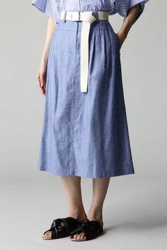 DIRECTOIRE ダンガリーAラインミディスカート