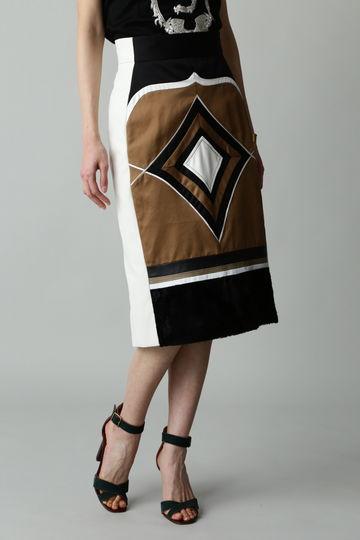 Fuhlen ジオメトリッククラフトスカート