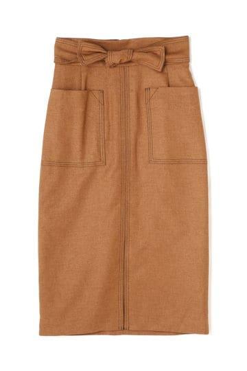 Unaca noir ステッチタイトスカート