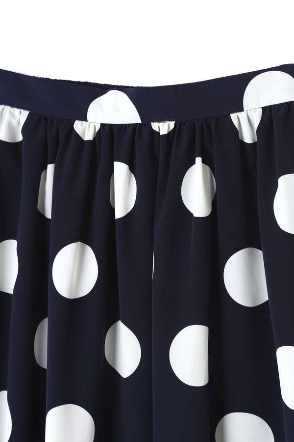 Unaca noir ドットロングスカート