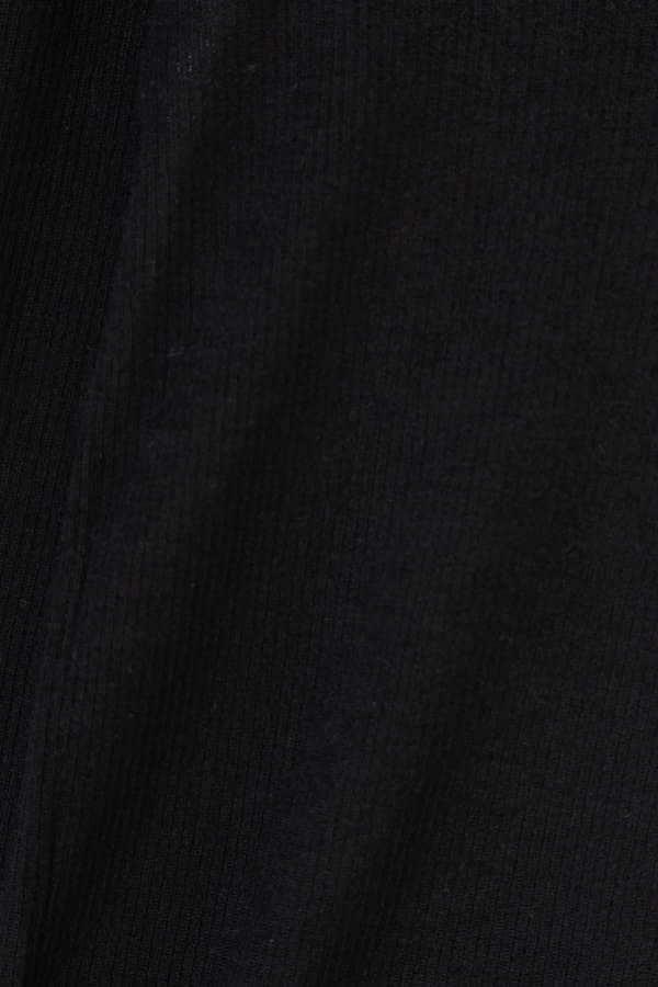 Unaca noir カシミアリブニット