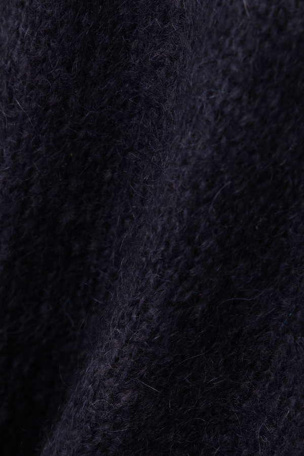 Unaca noir モヘアニットプルオーバー