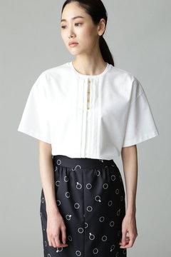 Unaca noir リングディテールTシャツ