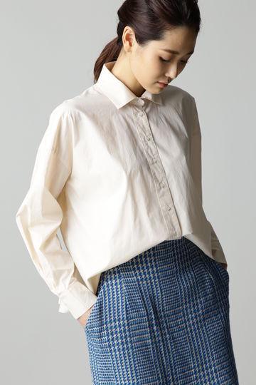 Hermaphrodite バックハンドギャザーシャツ