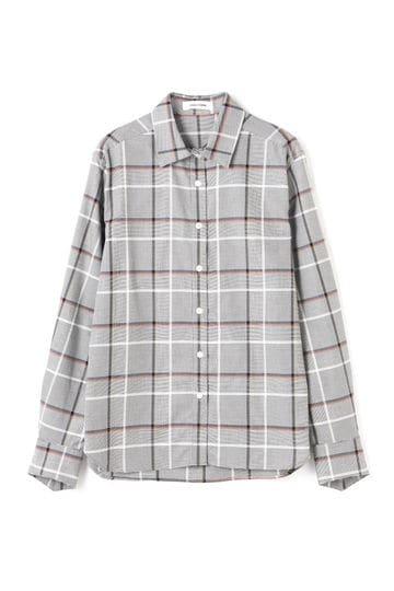 DIRECTOIRE Vカットカフスチェックシャツ