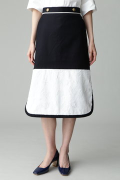 Fuhlen セーラーライン配色スカート
