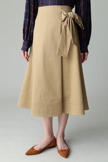 【先行予約 7月中旬 入荷予定】dunadix フレアリボンスカート