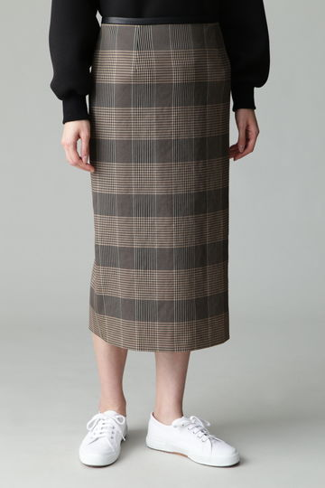 【先行予約 8月下旬 入荷予定】dunadix チェックタイトスカート