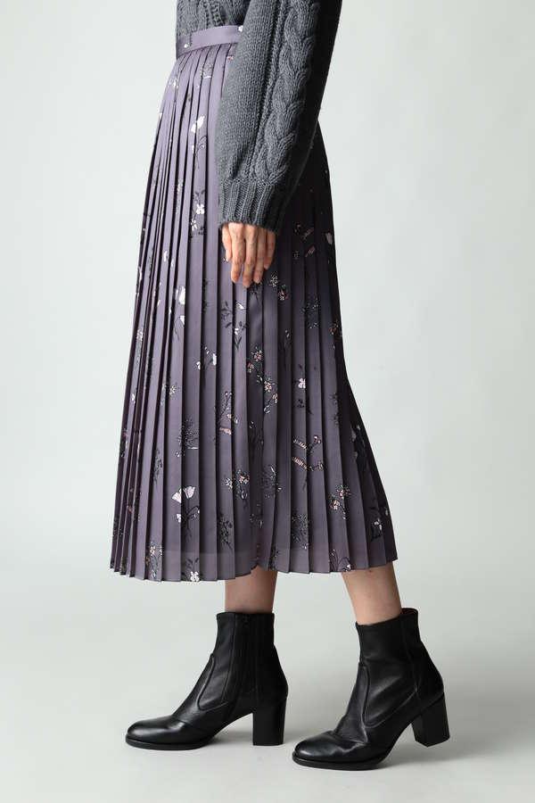 DIRECTOIRE フラワープリントプリーツスカート