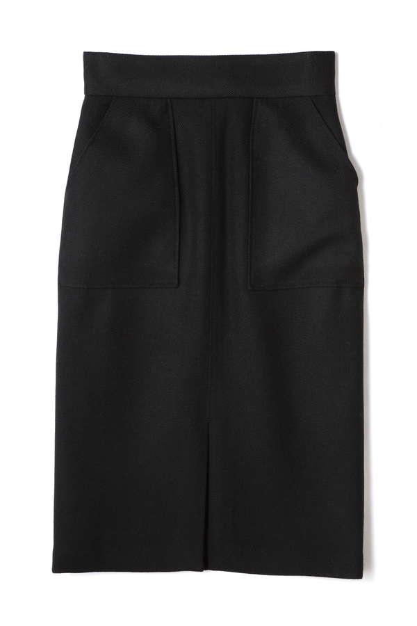 Unaca noir Wステッチサージスカート