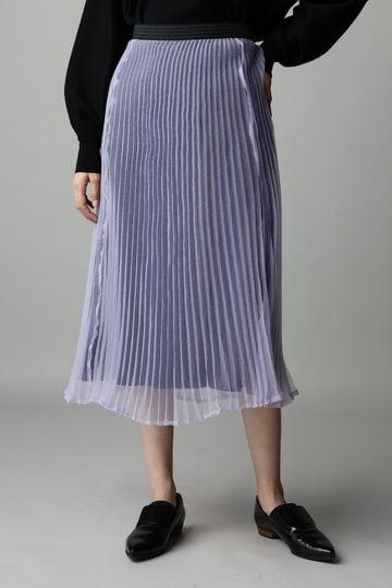 【先行予約 11月下旬 入荷予定】Unaca noir オーガンジープリーツスカート