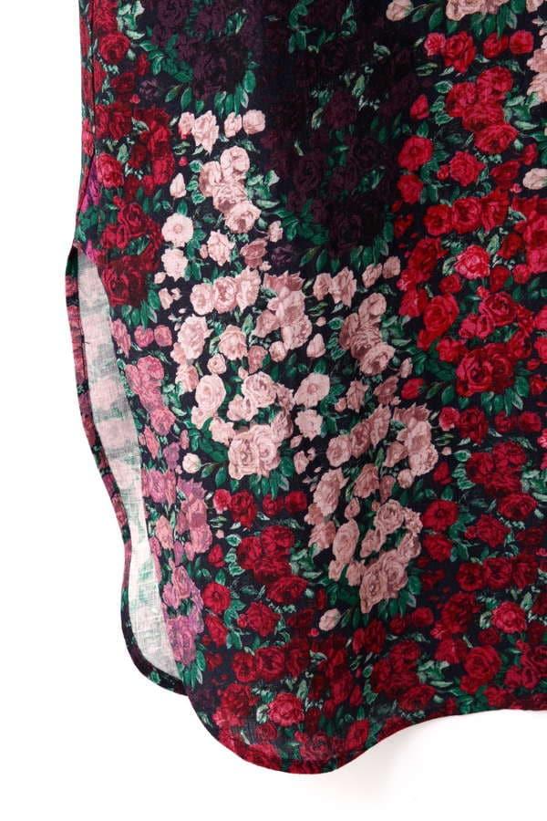 Hermaphrodite グラデーション花柄ワンピース