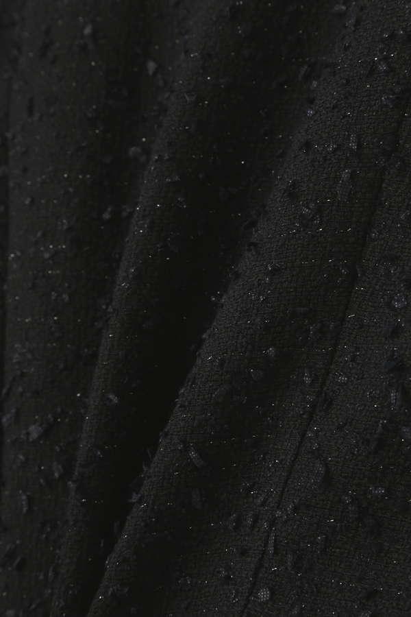 Unaca ファンシーツィードノーカラージャケット
