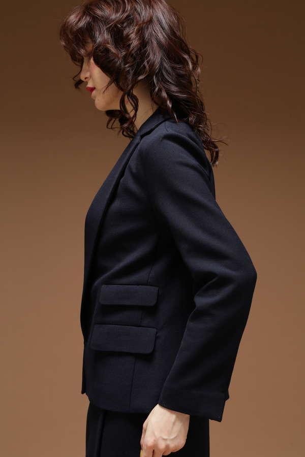 【GLOW 3月号掲載】Unaca noir 接結フラップジャケット