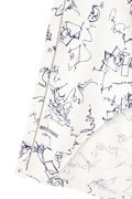 DIRECTOIRE 線画プリントフードブルゾン