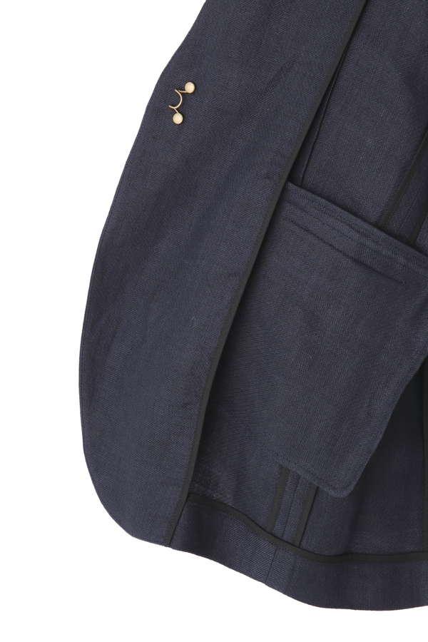 dunadix リネンノーカラージャケット