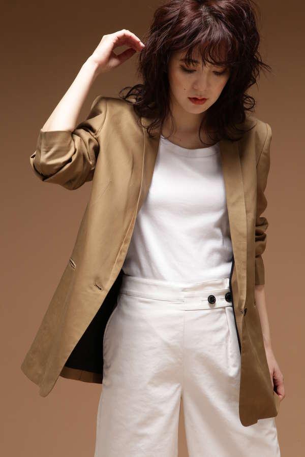 ボリューム袖ロングジャケット