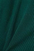 Unaca noir タック編みニットカーディガン
