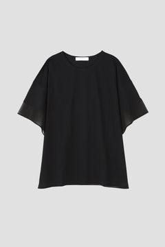 オーガンジー切替えビックTシャツ