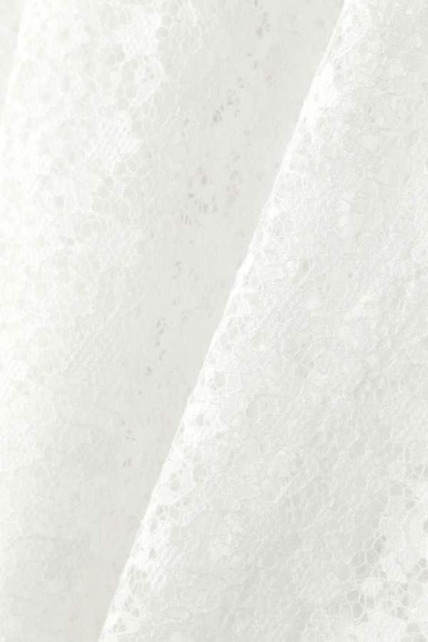 Unaca 小花ラッセルレースブラウス