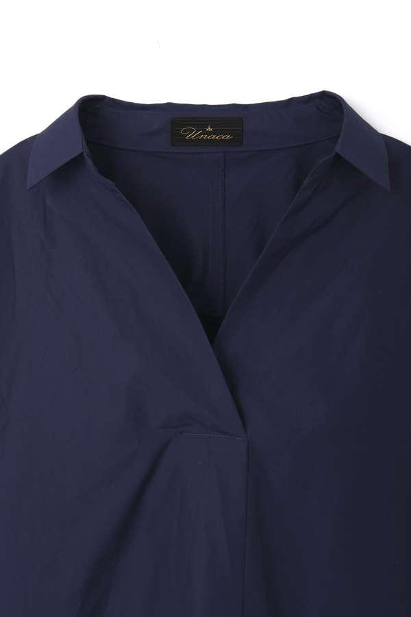 Unaca noir タイプライターシャツ