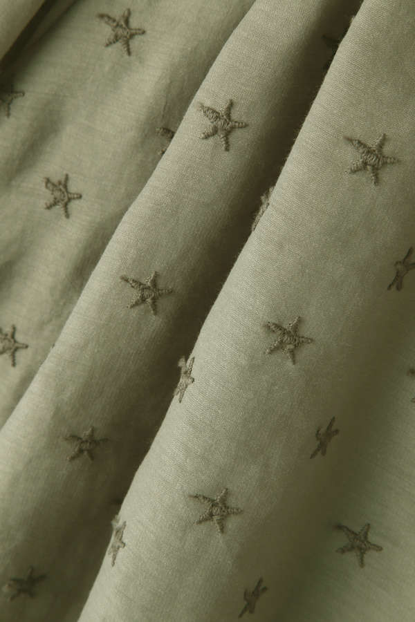 dunadix 星刺繍ギャザーブラウス