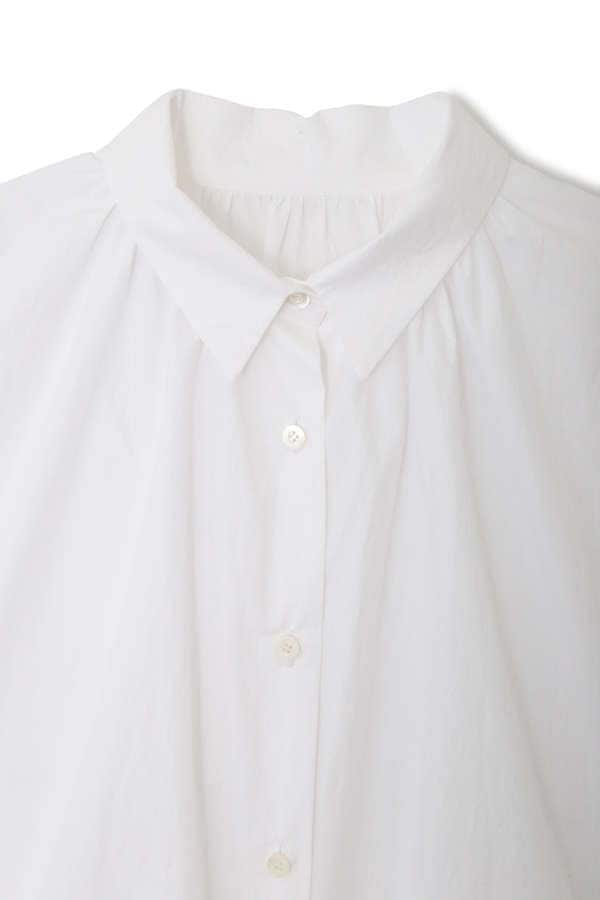 dunadix 襟ぐりギャザーシャツ