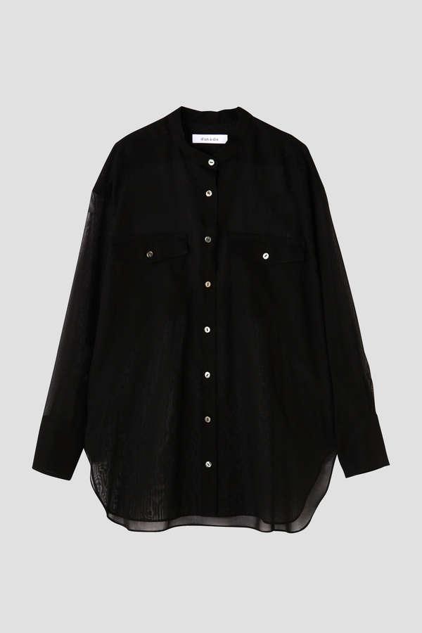 【otona MUSE 3月号掲載】dunadix オーガンジーワークシャツ